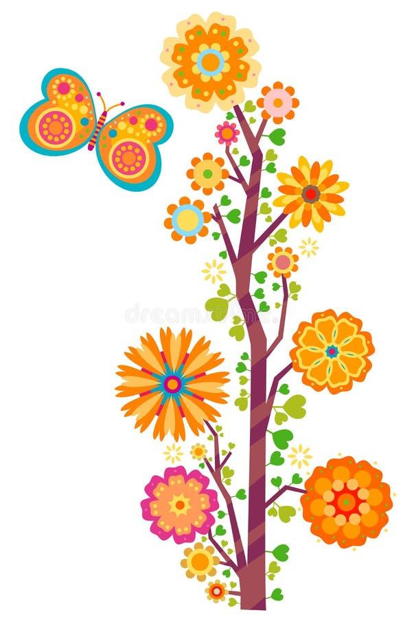 De boom van de bloem stock illustratie