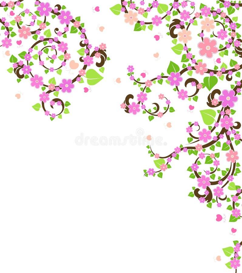 De boom van de bloesem royalty-vrije illustratie