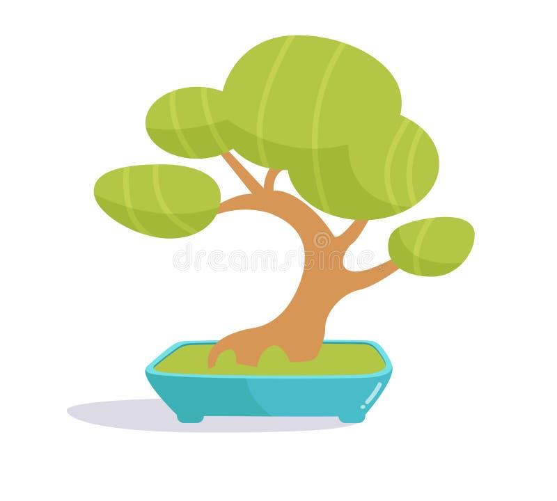 De boom van de bonsai Illustratie op witte achtergrond vector illustratie
