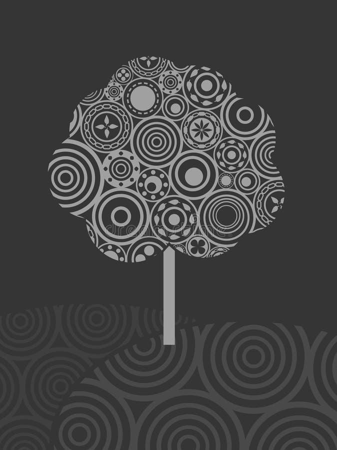 De boom van de cirkel stock illustratie