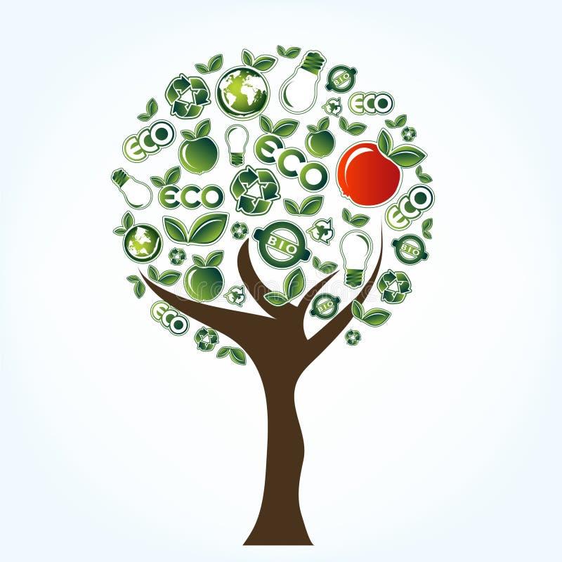 De boom van de ecologie royalty-vrije illustratie