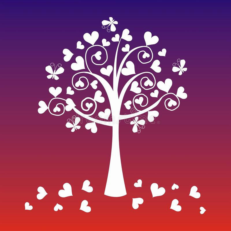 De boom van de fantasie royalty-vrije illustratie