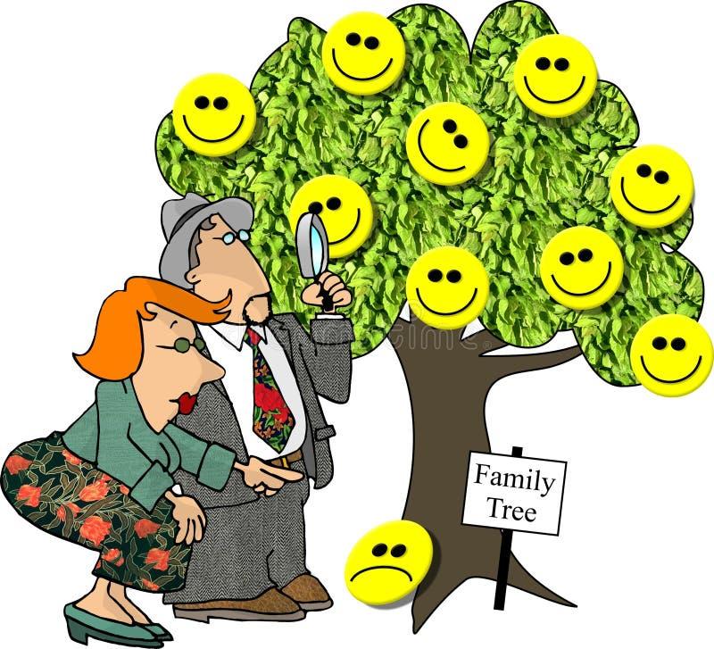 Download De Boom van de genealogie stock illustratie. Illustratie bestaande uit relatief - 43590