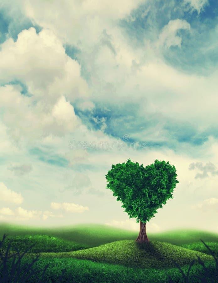 De boom van de hartvorm royalty-vrije stock afbeelding
