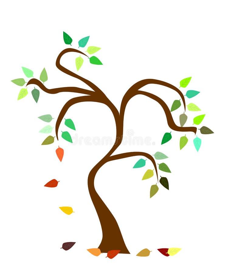 De boom van de herfst royalty-vrije illustratie