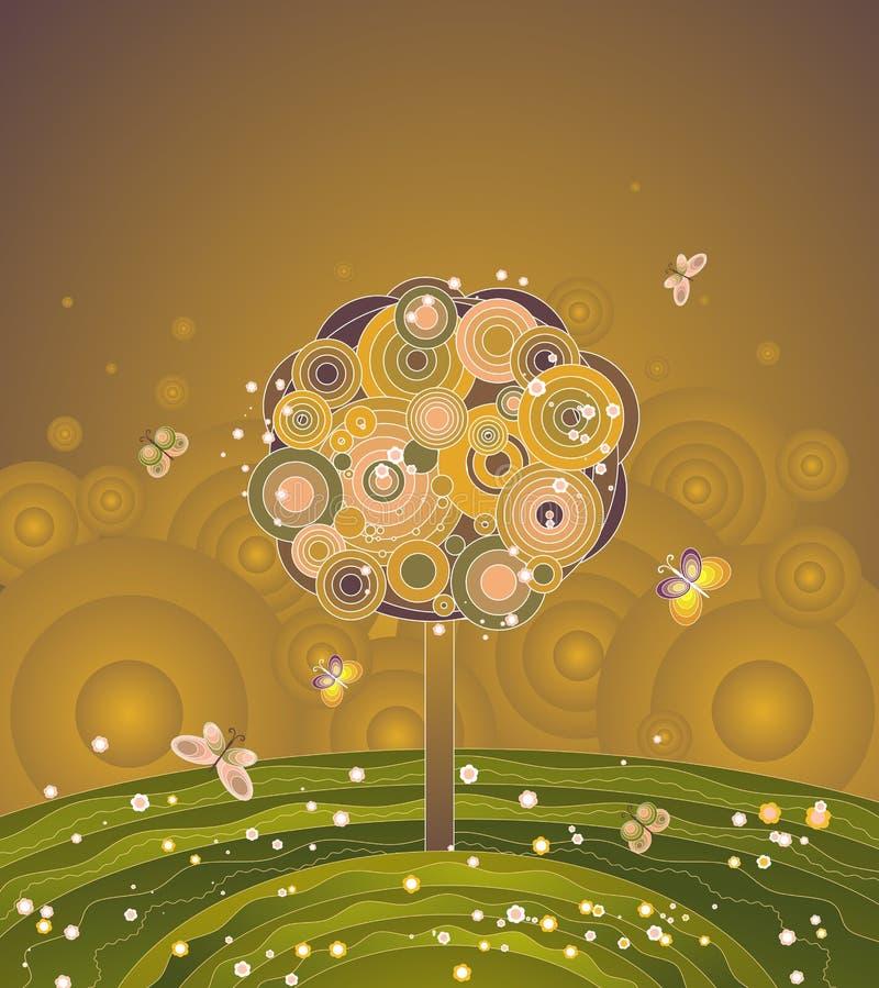 De boom van de herfst, vector vector illustratie