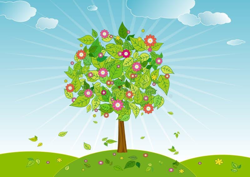 De boom van de lente, vector   royalty-vrije illustratie