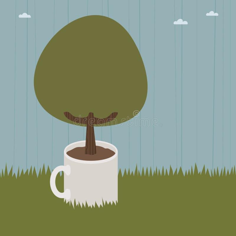 De boom van de mok stock illustratie