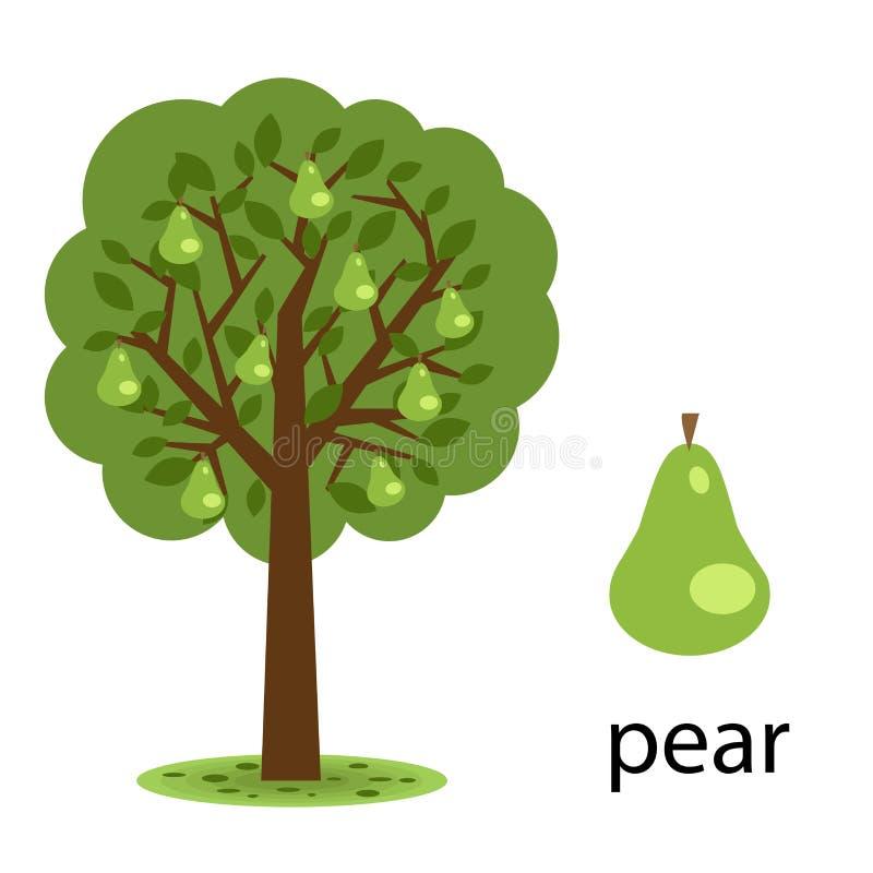 De boom van de peer royalty-vrije illustratie