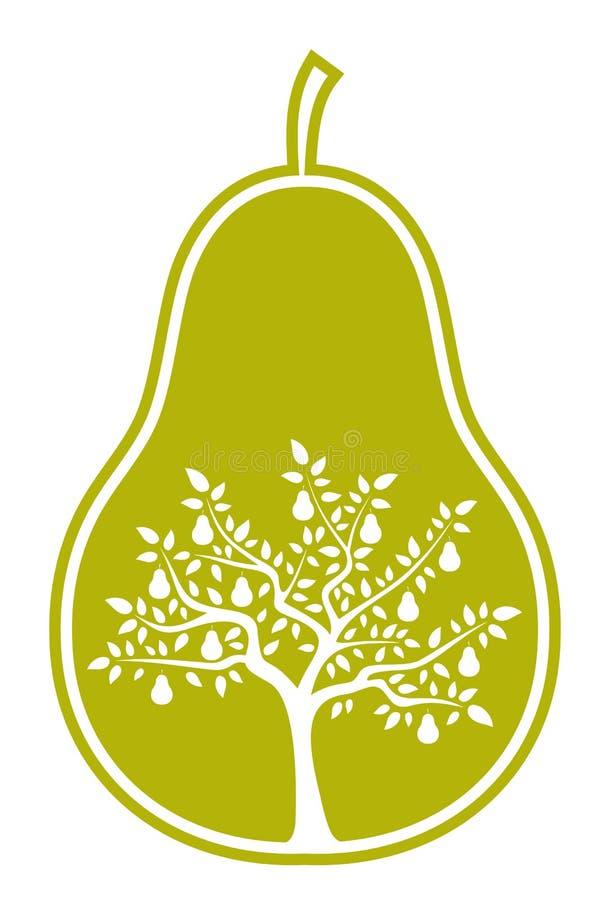 De boom van de peer in peer vector illustratie