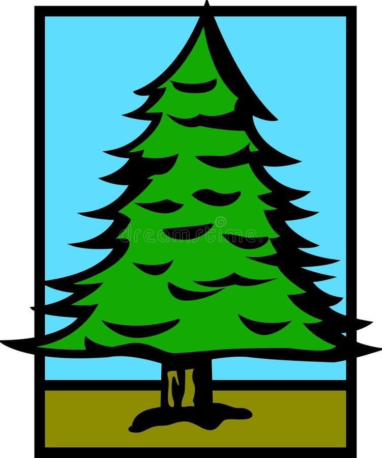 De boom van de pijnboom royalty-vrije illustratie