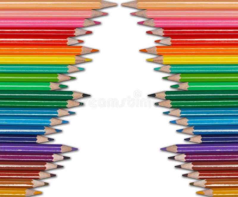 De boom van de potlodenKerstmis van de kleur royalty-vrije stock afbeeldingen