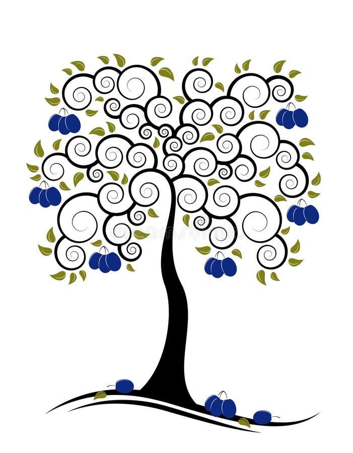 De boom van de pruim royalty-vrije illustratie