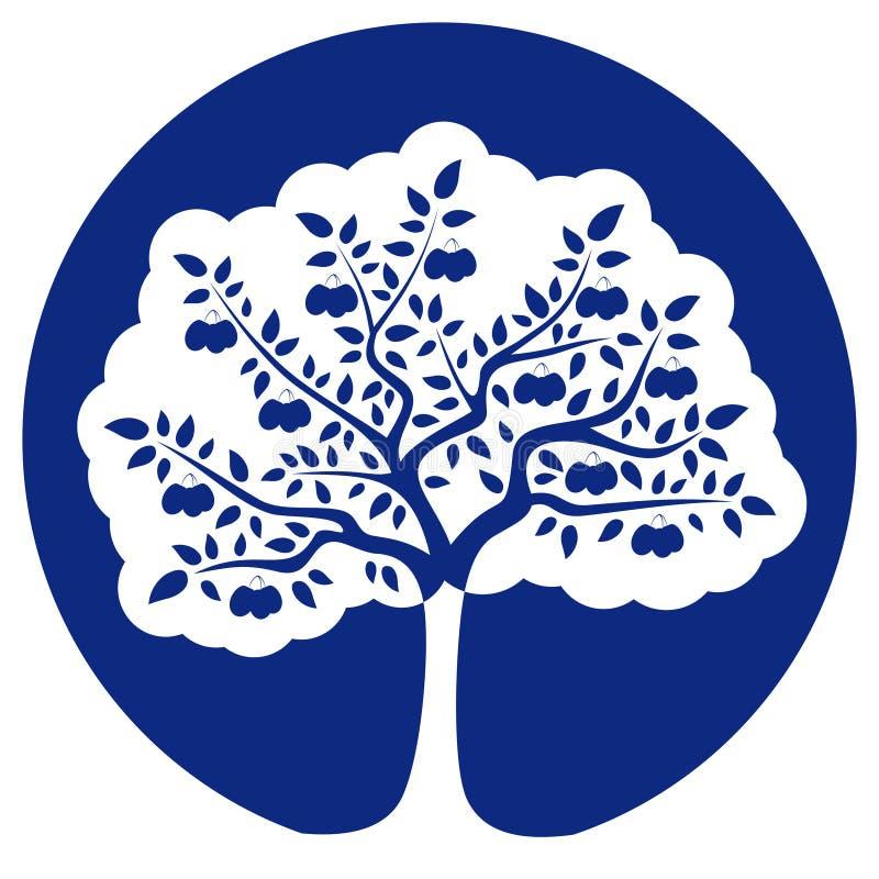 De boom van de pruim vector illustratie