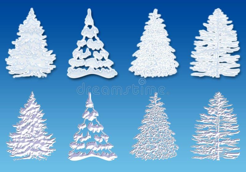 De boom van de sneeuw royalty-vrije illustratie