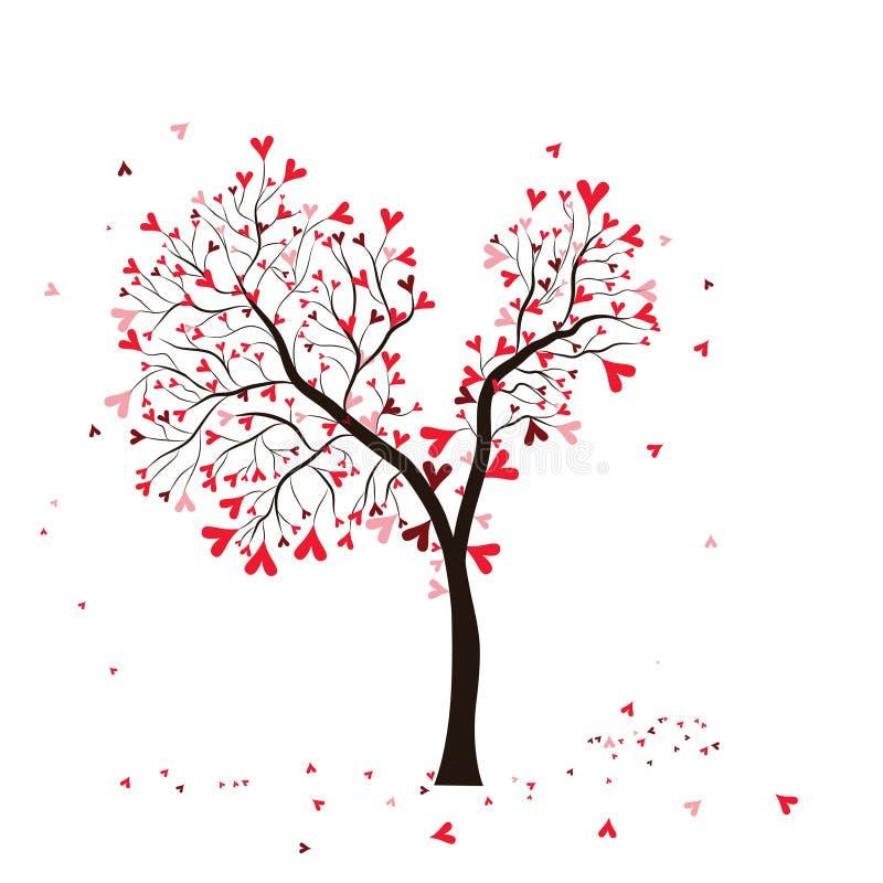 De boom van de valentijnskaart royalty-vrije illustratie