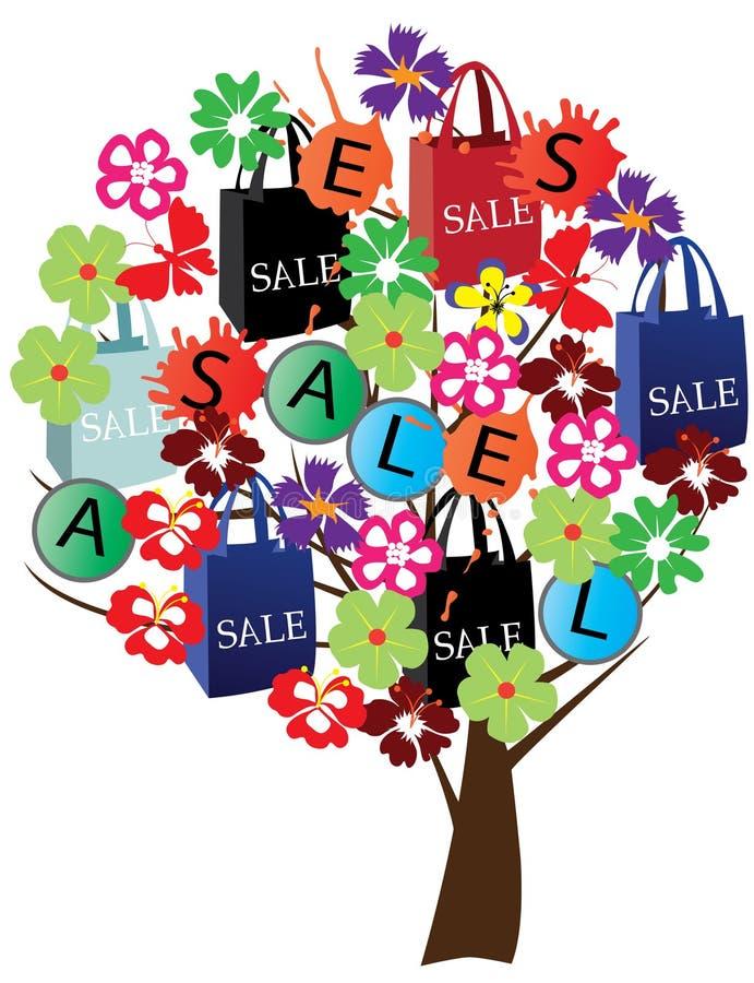 De boom van de verkoop royalty-vrije illustratie