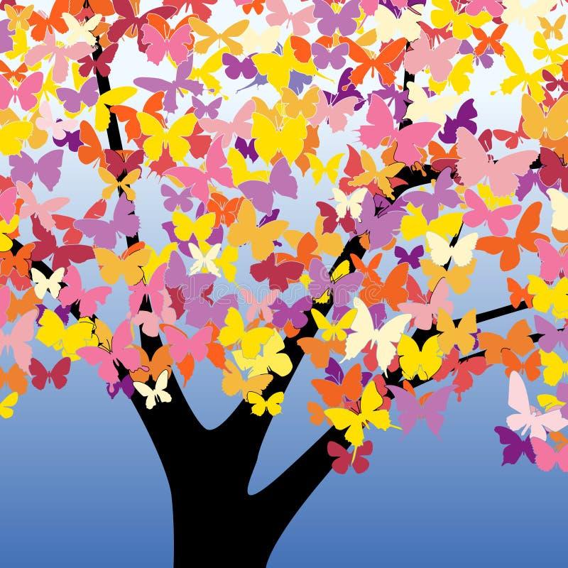 De boom van de vlinder stock illustratie