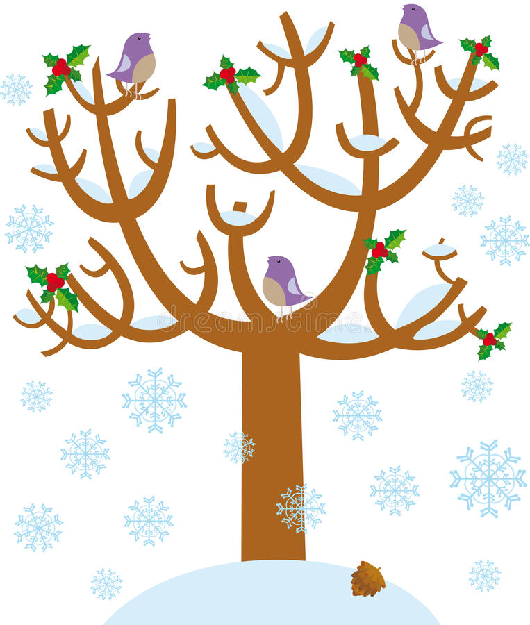 De boom van de winter stock illustratie