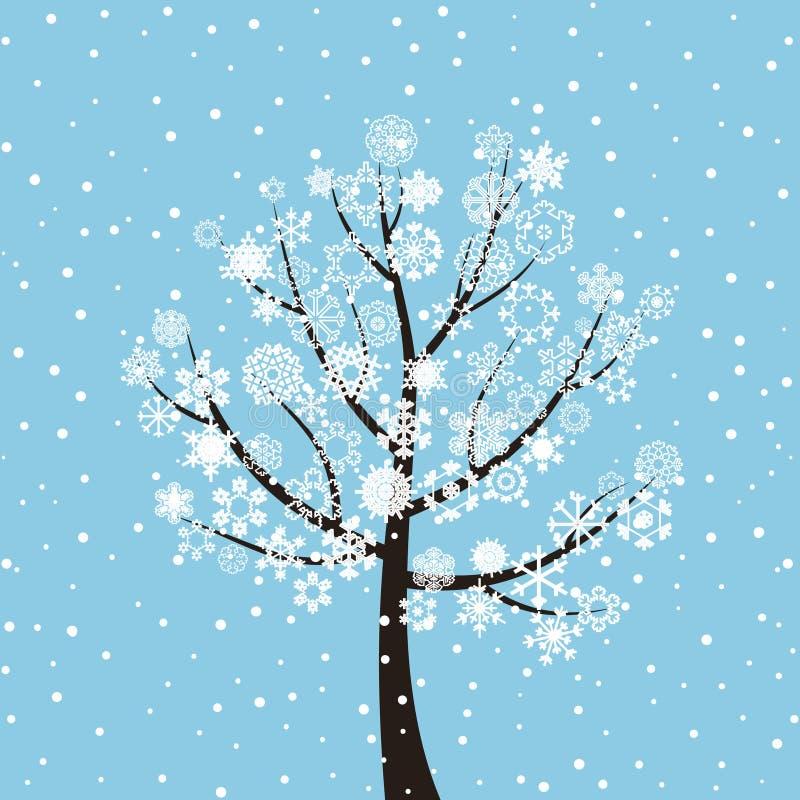De boom van de winter vector illustratie
