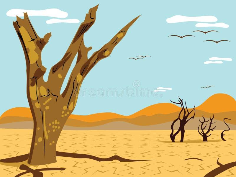 De boom van de woestijn royalty-vrije illustratie