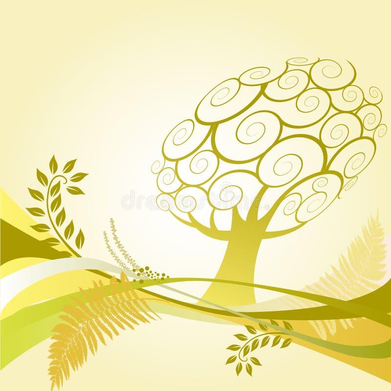 De boom van de zomer royalty-vrije illustratie