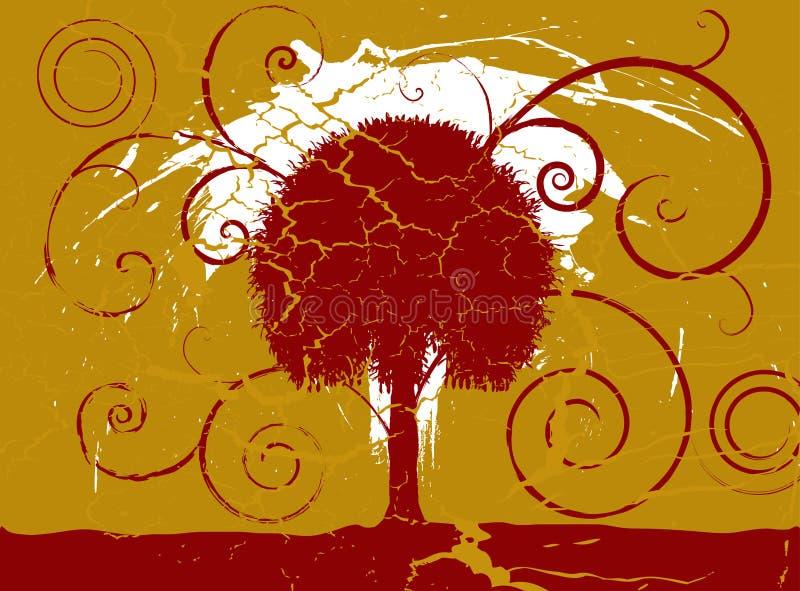 De boom van Grunge royalty-vrije illustratie