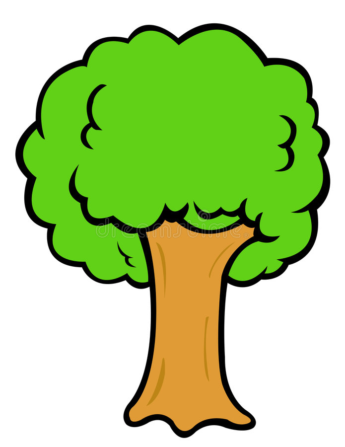 De boom van het beeldverhaal royalty-vrije illustratie
