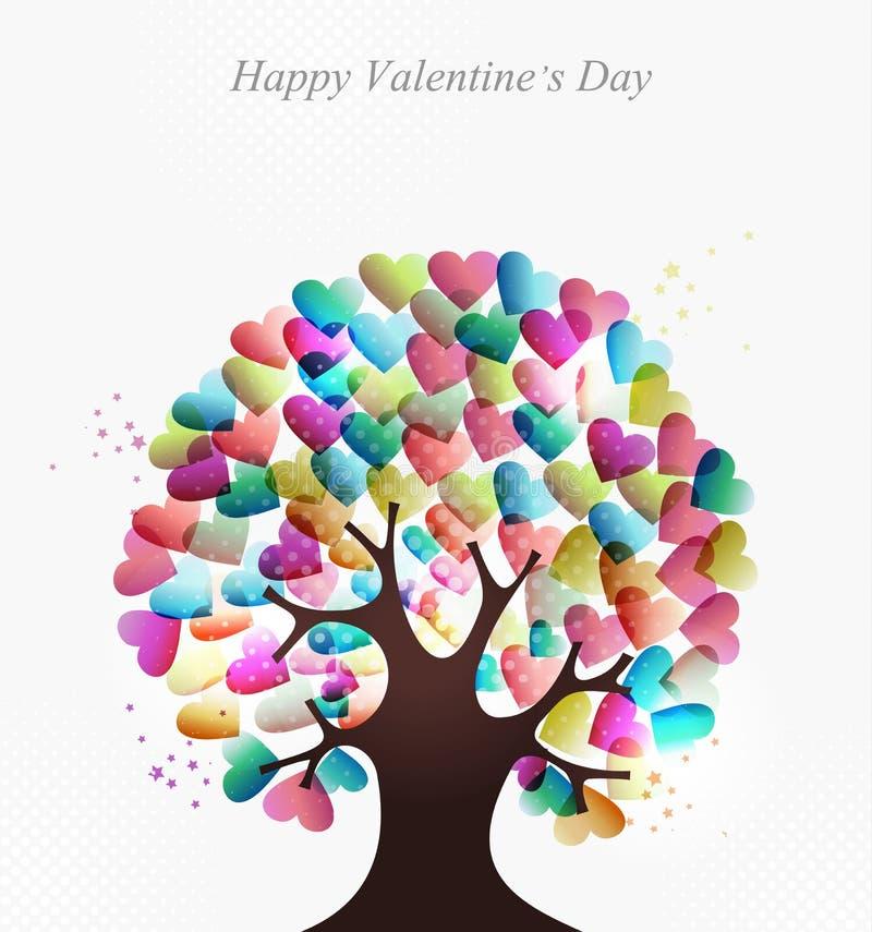 De boom van het de hartenconcept van de liefde vector illustratie