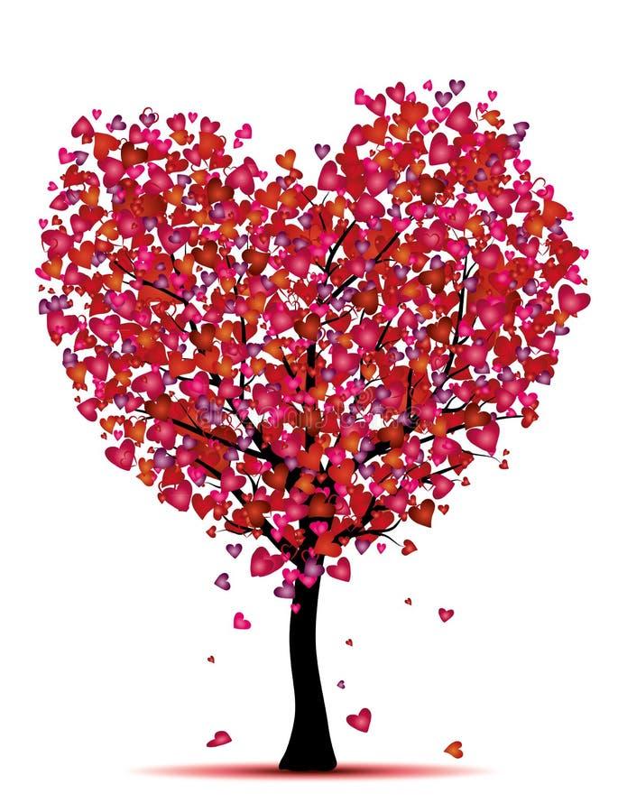 De boom van het hart royalty-vrije illustratie