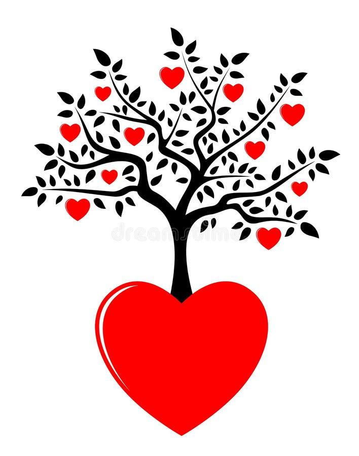 De boom van het hart het groeien van hart stock illustratie