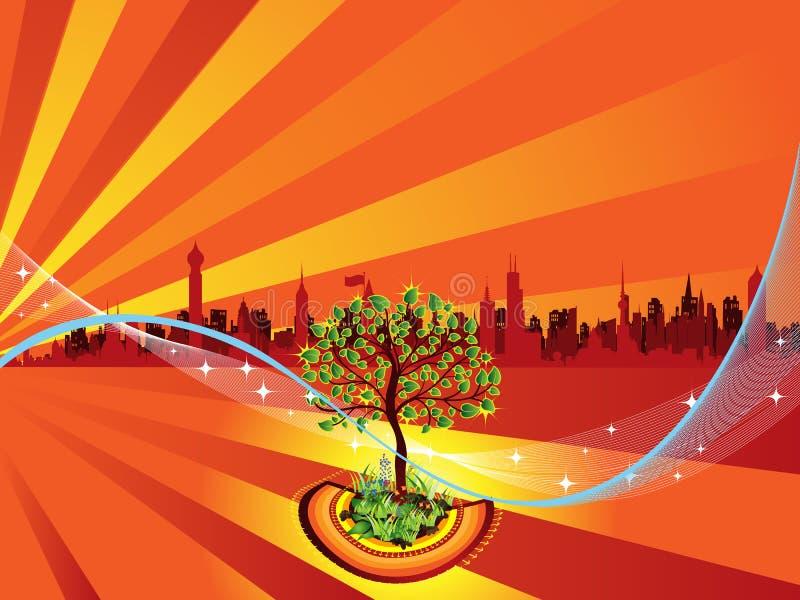 De boom van het mirakel royalty-vrije illustratie