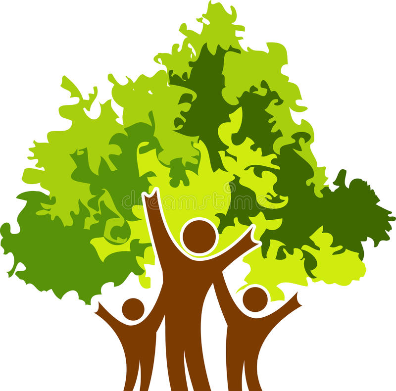 De boom van paren royalty-vrije illustratie