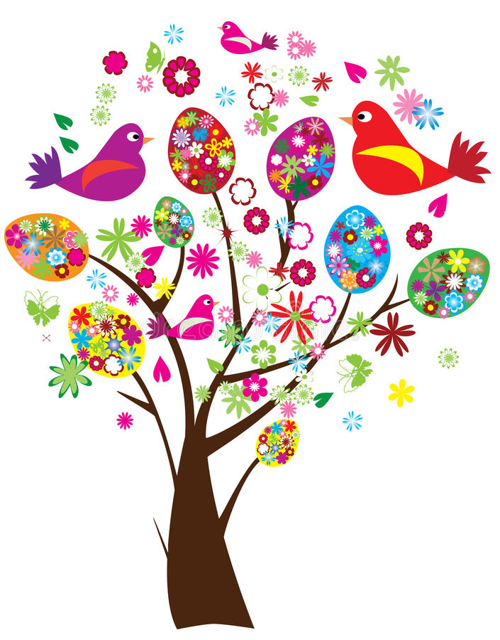 De boom van Pasen royalty-vrije illustratie