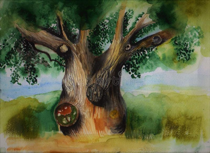 De boom van wijsheid royalty-vrije illustratie