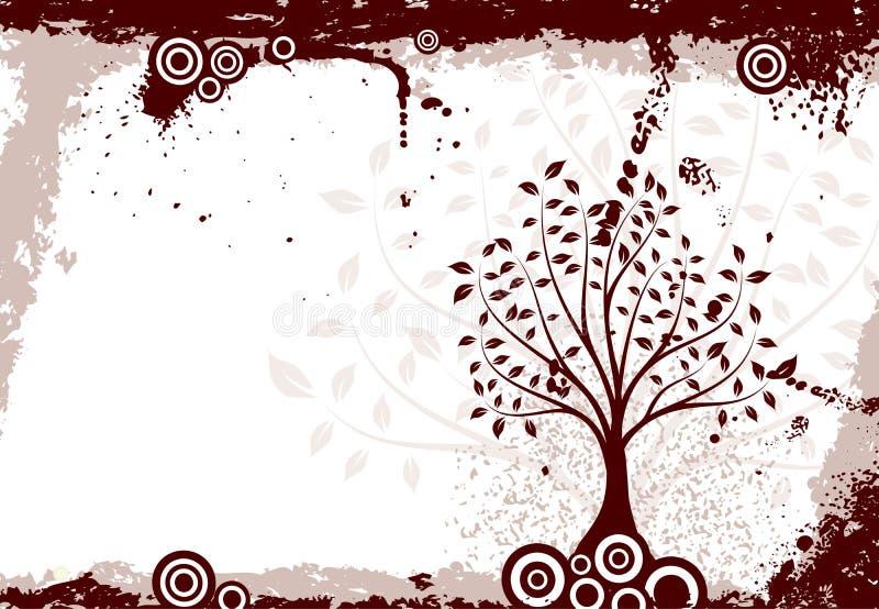 De boomachtergrond van Grunge, vector royalty-vrije illustratie