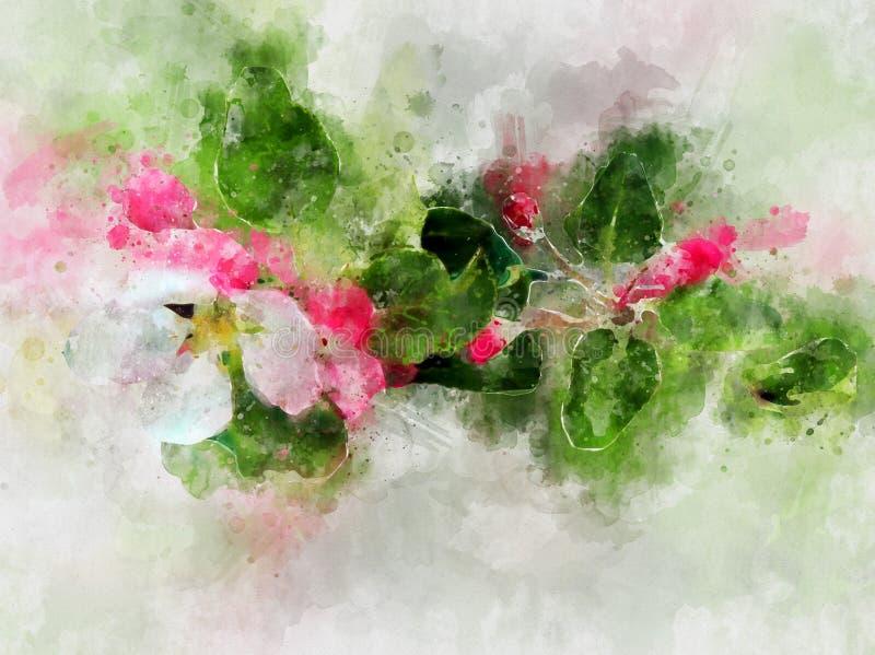 De boombloesem van de appel vector illustratie