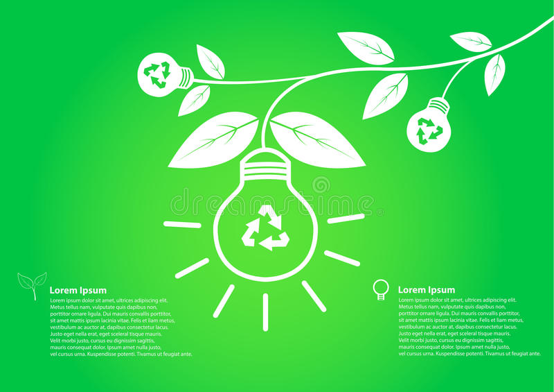 De boombol bewaart wereldconcept stock illustratie