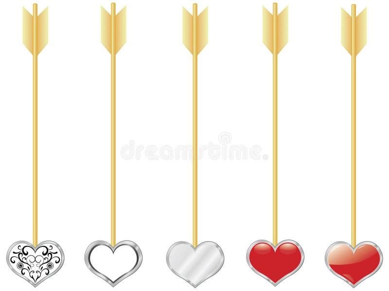 De boompijlen van de Cupido stock illustratie
