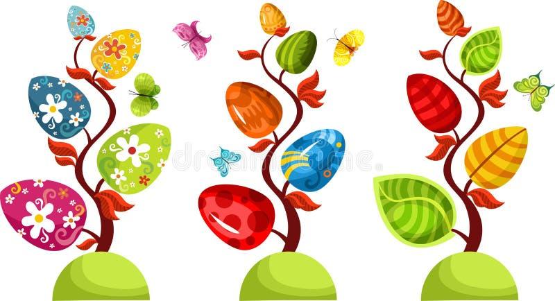 De boomreeks van Pasen stock illustratie