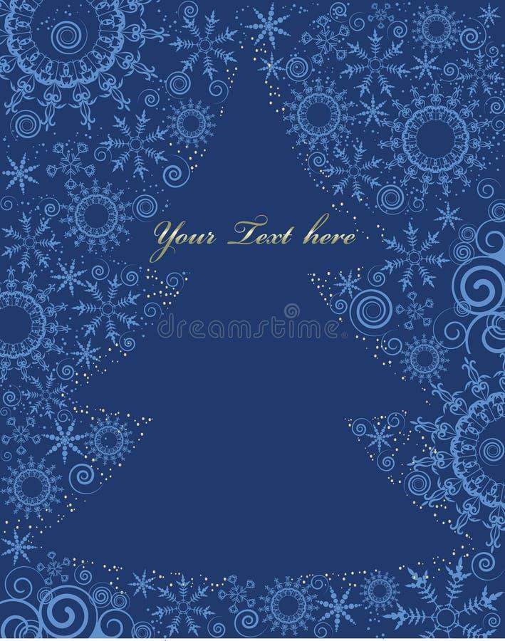 De boomsilhouet van Christmass met ruimte voor tekst stock illustratie