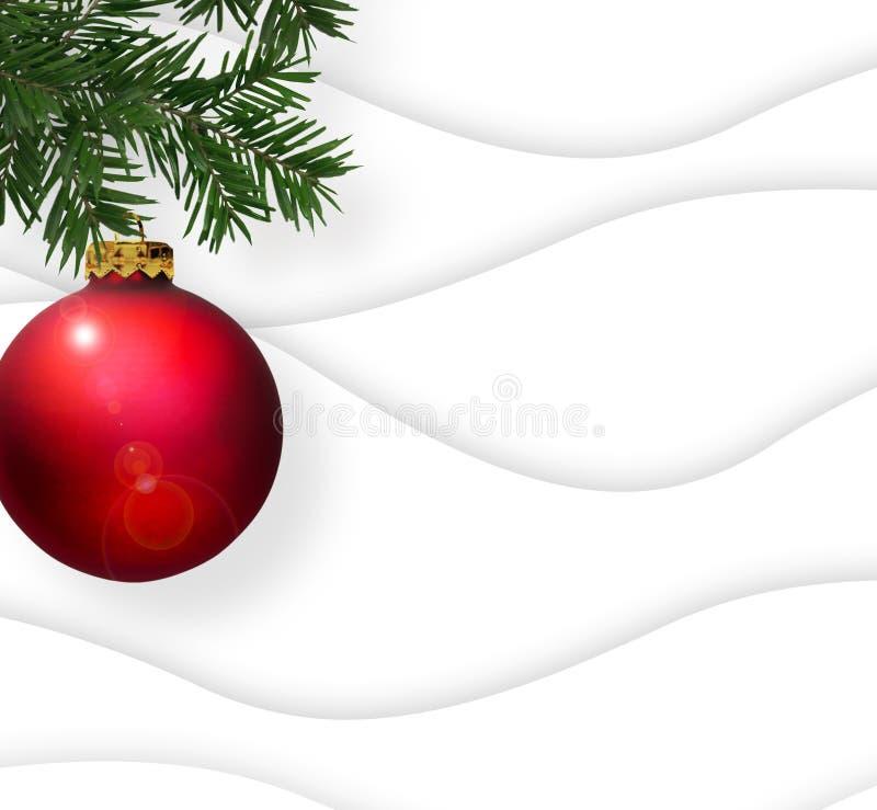 De Boomsneeuw Kerstmis van de Achtergrondornamentscène royalty-vrije illustratie