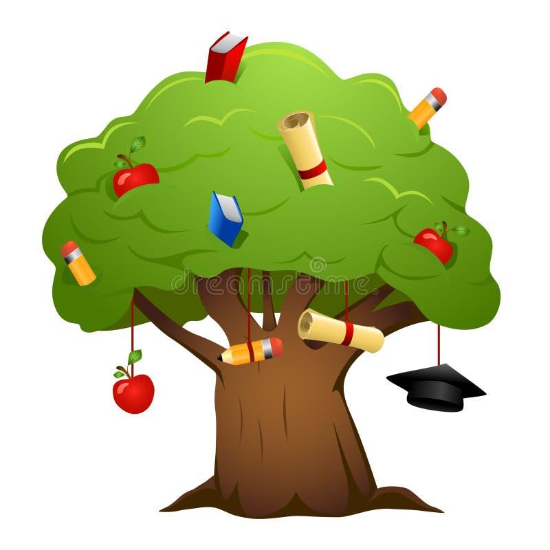 De boomvector van het onderwijs vector illustratie