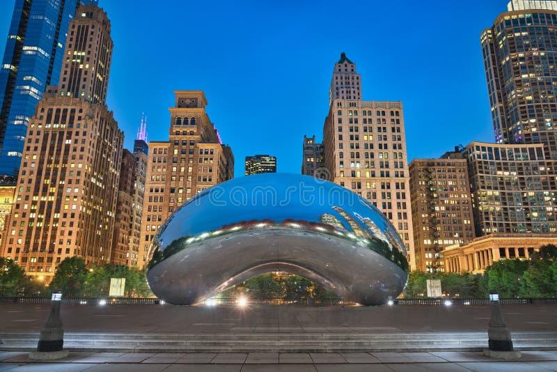 De Boon van Chicago & Blauw Uur stock foto's