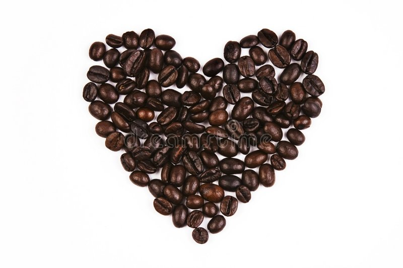 De Boon van de Koffie van de Vorm van de liefde royalty-vrije stock foto