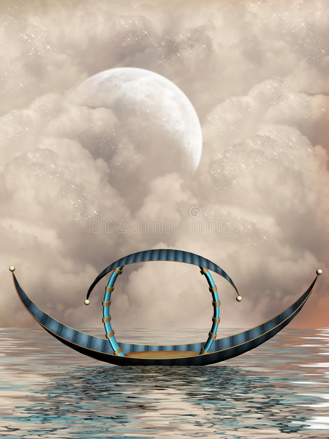 De boot van de fantasie royalty-vrije illustratie