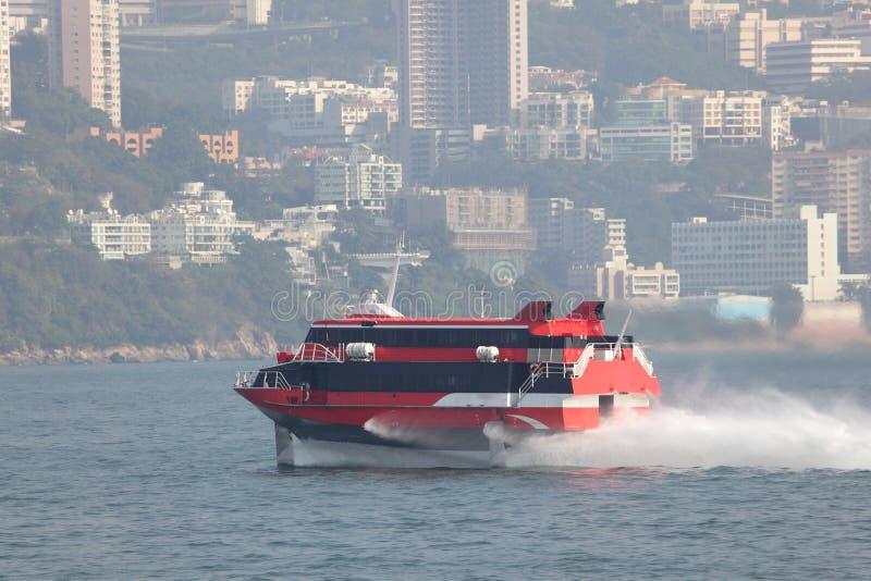 De boot van de hoge snelheid stock foto's