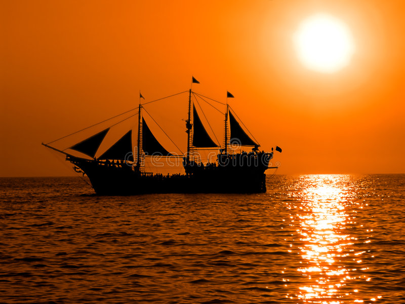 De boot van de piraat