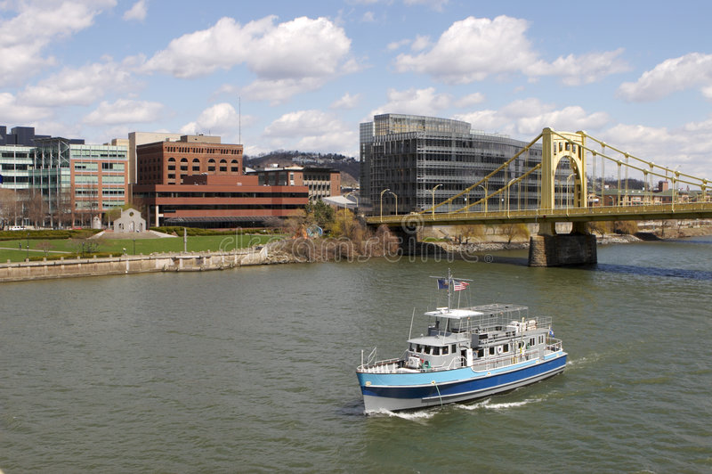 De Boot van de Reiziger van Pittsburgh stock fotografie
