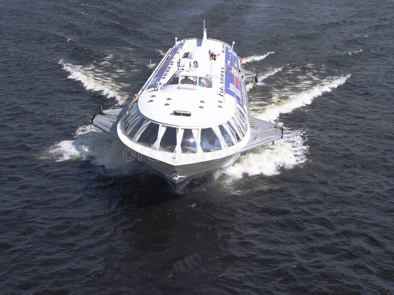 De boot van de vleugelboot stock afbeeldingen